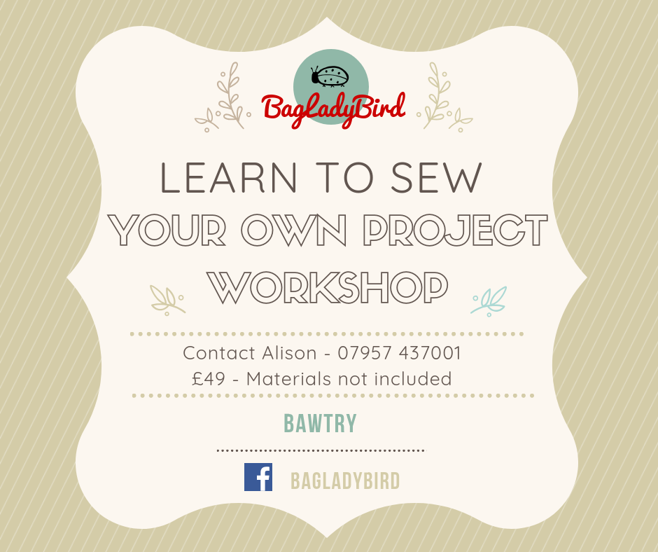 Learn to Sew Your Own Project Workshop - Bawtry - Generic - £49