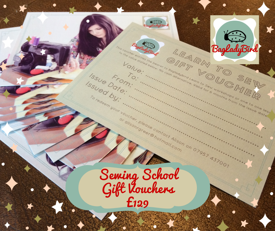 Sewing School Gift Vouchers £129