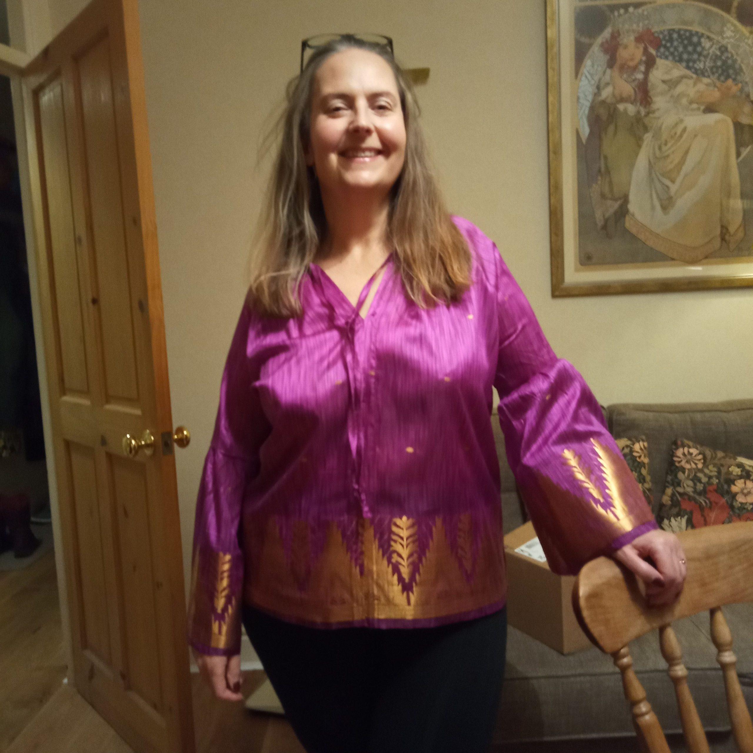 Student stories - Helen W - sari blouse